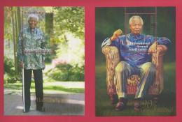 SOUTH AFRICA, 2008, MNH, 2 X Blocks Mandela 90 Years, 1879-1880, F3767 - Boekjes