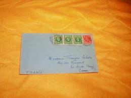 ENVELOPPE UNIQUEMENT DE 1936. / BRIGHTON GRANDE BRETAGNE A LA ROCHE POSAY FRANCE / CACHETS + TIMBRES. - 1902-1951 (Koningen)