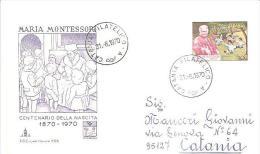 75627)centenario Della Nascita  Maria Montessori 31-8-70 - 6. 1946-.. Repubblica