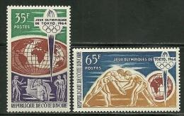 "Ivory Coast      ""Olimpic Games Tokio""     Set   SC# 215-16   MNH** - Summer 1964: Tokyo"