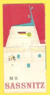 """Old Travel Guide - Ship """"Sassnitz"""" - Seizoenen En Feesten"""