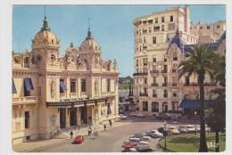 MONACO - L' HOTEL DE PARIS ET CASINO AVEC VIEILLES VOITURES - CITROEN DS ET 2CV - Ed. S.E.C A MONACO - NON VOYAGEE - Hotels