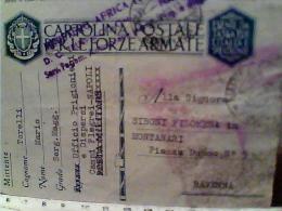 CARTOLINA FORZE ARMATE  FRANCHIGIA  UFFICIO PRIGIONIERI NAPOLI CAMPI  FLEGREI MINISTERO AFRICA ITALIANA 1942  EK6897 - Prigione E Prigionieri