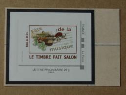 SALON PLANETE TIMBRES Paris 2014  : Fête De La Musique (autocollant  / Autoadhésif ) - Personalizzati (MonTimbraMoi)