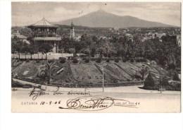 ITALIE   SICILIA---CATANIA---villa Bellini Com Vista Dell' Etna----voir 2 Scans - Catania
