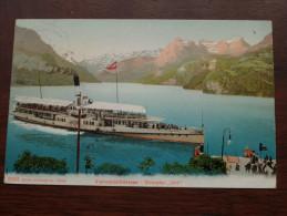 """Dampfer """" URI """" Vierwaldstättersee ( 3281 ) Anno 1906 ( Zie Foto Voor Details ) !! - Steamers"""