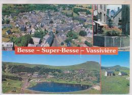 CPM DPT 63 BESSE, SUPER BESSE VASSIVIERE, MULTIVUES En 1996!! - Besse Et Saint Anastaise