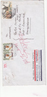 COMMERCIAL USED COVER OF QATAR,REGISTERED, INSECTS ON STAMPS,VERY RARE,SEE SCAN COPY - Qatar