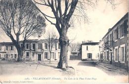 VILLANDRAUT  Un Coin De La Place Victor Hugo Timbrée Excellent état - Altri Comuni
