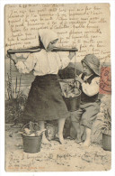 Couple Enfant Pecheurs - Fishing