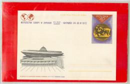 POLSKA - Cartolina Intero Postale -  LOTTA  -  Impianto Sportivo  KATOWICE '72 - Lotta