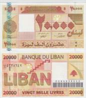 Lebanon 20000 Livres  2004  Pick 87 UNC - Liban