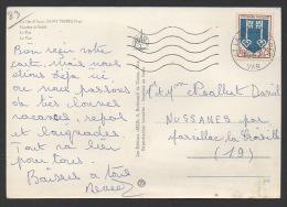 DF / FRANCE SUR CARTE POSTALE / TP 1469 ARMOIRIES DE MONT-DE-MARSAN / OBL. 93 LA CROIX VALMER 4 -8 1967 VAR - Lettres & Documents