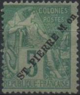 SAINT-PIERRE-ET-MIQUELON SPM   21 * MH Type Alphée Dubois Surchargé (CV 17 €) [ColCla] - Used Stamps