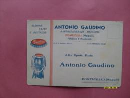 Testatina Commerciale ANTONIO GAUDINO Ponticelli Napoli Tappi E Bottiglie - Napoli
