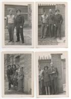 Photo. Groupe Homme Femme- Militaire. Lot De 4 Photos. 1946. - Guerra, Militari