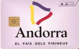 AND-034 TARJETA DE ANDORRA LOGO ANDORRA (NUEVA-MINT SIN BLISTER) - Andorra