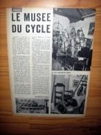 """Reportage Met Foto´s Uit Oud Tijdschrift 1966 - Le Musée Du Cycle à Maule - Seine-et-Oise """"Moulin De La Petite Reine"""" - Alte Papiere"""