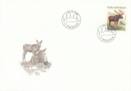 Czech Rep. / First Day Cover (1998/11 D) Praha: Alces Alces, Logo CIC (Conseil International De La Chasse) - Stamps