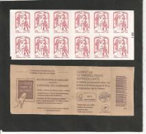 CARNET 851 C 10  AVEC  CARRE NOIR Sur N° 100   NEUF XX - Carnets