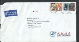 Hong Kong China 2006 Airmail, $1 Postal History Cover, Airmail To Pakistan - Covers & Documents