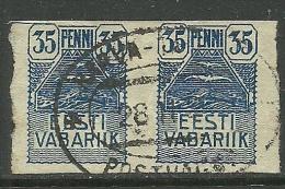 Estland Estonia Estonie 1919 Möwe Seagull Michel 10 Railway Cancel Eisenbahn -Stempel - Estland