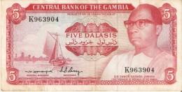 BILLETE DE GAMBIA DE 5 DALASIS DEL AÑO 1972   (BANKNOTE) SIGN 4ND - Gambia