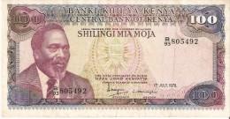 BILLETE DE KENIA DE 100 SHILINGI DEL AÑO 1978 (BANK NOTE) - Kenia
