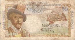 BILLETE DE MARTINIQUE DE 50 FRANCS DEL AÑO 1947-49 (BANKNOTE) - Autres