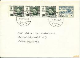 Greenland Cover Sent To Denmark Umanak 10-9-1974 - Greenland