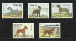 EIRE IRELAND IRLANDA 1983 DOGS CANI COMPLETE SET MNH - 1949-... République D'Irlande