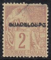 Alphée Surchargée Guadeloupe N° 15 - Oblitérés
