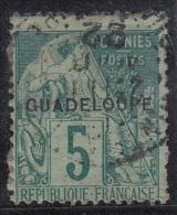 Alphée Surchargée Guadeloupe N° 17 - Oblitérés