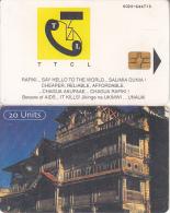 TANZANIA(chip) - Traditional House(reverse C), CN : 0020, Chip GEM3.1, Used - Tanzania