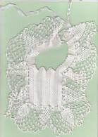 Bavoir Crochetté En Coton - 1900-1940