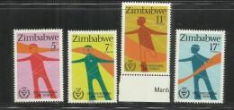 ZIMBABWE 1981 DISABLED PEOPLE DISABILI MNH - Zimbabwe (1980-...)