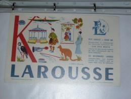 BUVARD-LAROUSSE- MOTS A TROUVER - K - Stationeries (flat Articles)