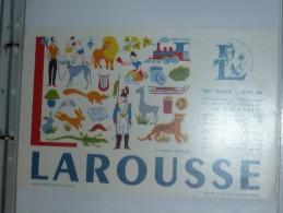 BUVARD-LAROUSSE- MOTS A TROUVER - L - Stationeries (flat Articles)