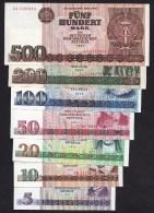 Compleet-DDR Komplett-Set 5 Bis 500 MARK Der DDR Bankfrisch Original 1971-1975-1985 - Collezioni