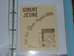 BUVARD-   GIBERT JEUNE Sur Les Quais Depuis 1886 - Papeterie