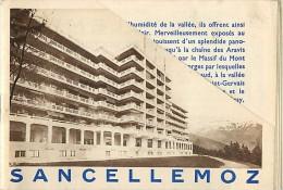 Dept Div - Haute Savoie - Ref N 659 - Sancellemoz - Livret Souple 4 Pages  Sur Les Sanatoriums D´assy -  Santé - - Francia