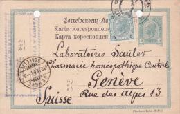 AUTRICHE : Entier Postal Avec Affranchissement Complémentaire Oblitéré Le 18.IX.1901, à Destination De Genève - Entiers Postaux