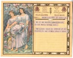 Télégramme - Royaume De Belgique - Bruxelles - ST Gilles Bruxelles (Hôtel Communal) Pour Uccle (cachet Au Dos) - Fogli Telegrafici