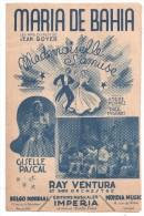 Partitions Musicales, MARIA DE BAHIA, Samba, Paroles A. HORNEZ, Musique : P. MISRAKI, Ed : IMPERIA, Frais Fr : 1.80 - Partitions Musicales Anciennes