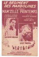 Partitions Musicales, LE REGIMENT DES MANDOLINES, Paroles M. VANDAIR, Musique : H. BETTI, Frais Fr : 1.80 - Partitions Musicales Anciennes