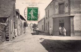 Cpa  49  Gruge-l'hopital Rue Principale..ouvriers Devant Batiment - Autres Communes