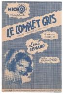 Partitions Musicales, LE COMPLET GRIS, Paroles Et Musique De Louis GASTE, Ed : MICRO, Frais Fr : 1.80 - Partitions Musicales Anciennes