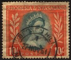 ~~~ Rhodesia Ans Nyassaland 1954 - Definitives - Mi. 15 (o) - 10 Shilling ~~~ - Rhodesia & Nyasaland (1954-1963)