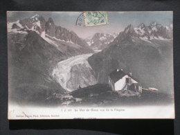 Ref2924 B1325 CPA De La Mer De Glace Vue De La Flégère - JJ 105 - Jullien Frères Phot.éd. Genève 1907 - Chamonix-Mont-Blanc
