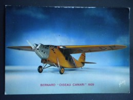 "Carte Postale - Avion De Grand Raid Bernard ""oiseau Canari"" 1929 - Collection Du Musée De L'air - Equipment"